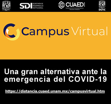 Campus Virtual de la UNAM. Emergencia del COVID-19