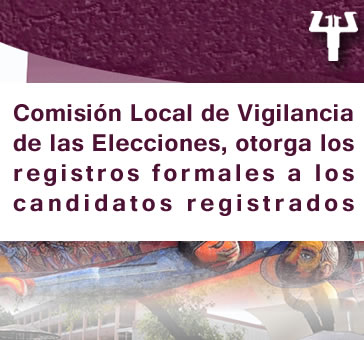Registros de candidatos -Comisión Local de Vigilancia…